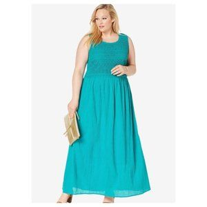 NWOT Jessica London Gauze Maxi Dress